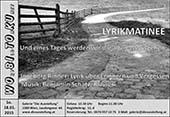 Lyrikmatinee mit Ingeborg Rinner am 18.01.2015 in Wien mit musikalischer Begleitung