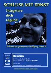 """Bild Kabarett Wolfgang Bartsch """"Schluss mit Ernst!"""""""
