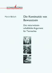 Buchumschlag Martin Balluch, Bewusstsein