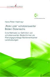 Buchumschlag Hans-Peter Haslmayr, Rote Liste