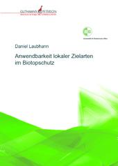 CoverDaniel Laubhahn, Zielarten im Biotopschutz