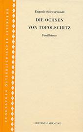 Cover Eugenie Schwarzwald, Die Ochsen von Toplschitz