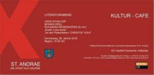 """Einladung zum Literaturabend """"Erotik in the dome"""""""
