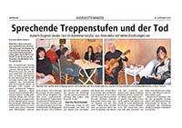 Zeitungsbericht über Lesung von Dagmar Jacobs in Barnten, Niedersachsen