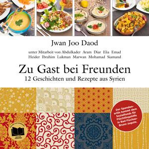 buntes Buchcover mit Gerichten